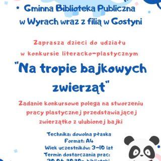 Bajkowe zwierzątko, plakat informacyjny